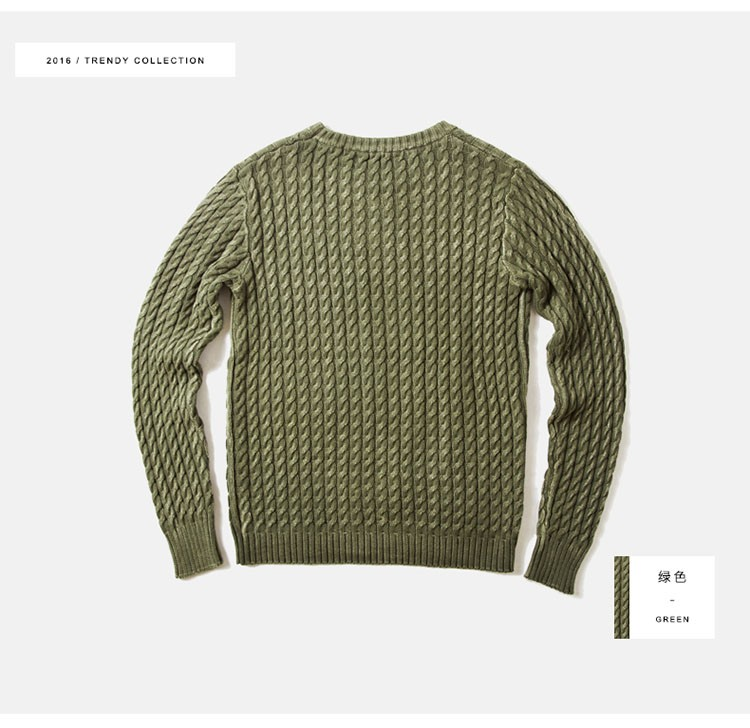 Aolamegs Men Sweater Fashion Casual Solid Color Knitting Pullover 2016 Autumn High Quality Simple Wild O-Neck Knitted Sweaters (11)