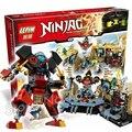 1351 шт. Бела 06039 Ninja Samurai X Пещера Хаос Строительные Блоки Джей Ллойд Игрушки Совместимость С Lego