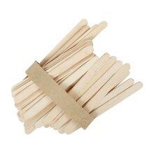 50 шт. одноразовые деревянные шпатель для удаления волос, шпатель для удаления языка, одноразовые бамбуковые палочки, набор