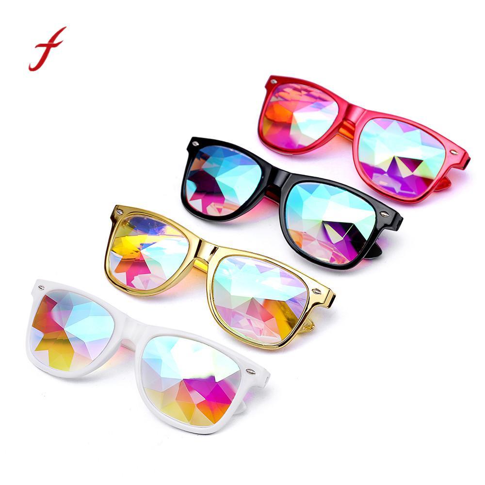 97830fc634dd6 2018 Óculos de Sol Óculos de Moda Óculos Rave Partido Festival EDM  Caleidoscópio Difratado óculos de Lente dos óculos de sol mulheres gafas de sol  mujer