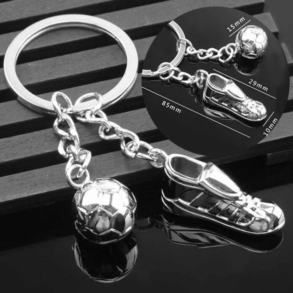 Sapatos De Futebol De Mesa Futebol criativo ornamentos Para O Carro do Saco Da Bolsa De Metal Em Aço Inoxidável Pingente Chaveiro Chaveiro Presente da Copa Do Mundo