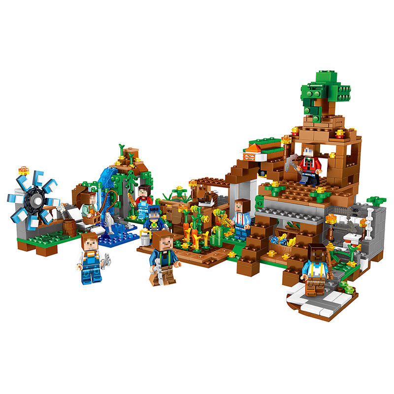 8in1 The Original package Building Blocks Sets My World Manor Compatible Legoinglys Minecrafter Technic Toys for Children the skm500ga124dh6 package on the original disassemble