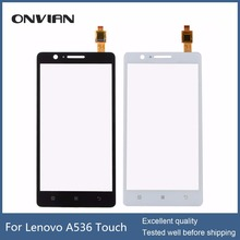 Black White touch panel For Lenovo A536 touch screen digitizer Sensor Lens glass replacement for A 536 phone