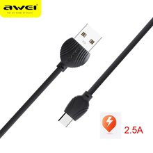 Awei TYPE-C data Cable 2.5A safe and fast  data charging line quick charging Date line for Type-c devices safe c