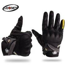 SUOMY moto rcycle перчатки для верховой езды мото rcycle перчатки подходят для Yamaha BMW полный палец moto cross moto rbike перчатки luvas da moto