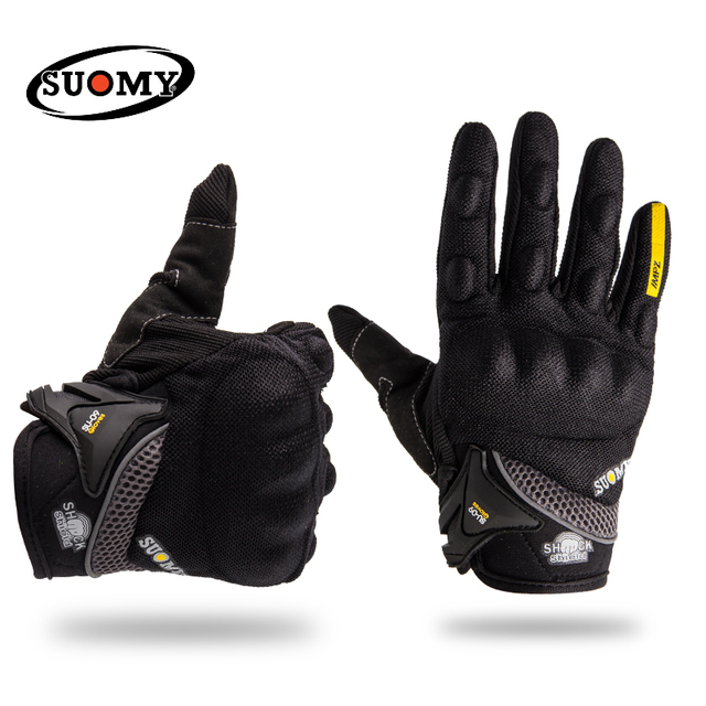 9cb79e688 SUOMY Motorcycle riding gloves motorcycle gloves fit for Yamaha Harley BMW  Full finger motocross motorbike gloves