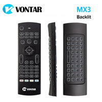 VONTAR MX3 Pro Backlight Wireless Keyboard 2.4G Wireless Remote Control IR Learning Fly Air Mouse For X92 X96 Android TV Box