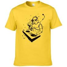 Креативный дизайн DJ печатных футболка Star Wars Для мужчин Для женщин Забавные футболки для девочек короткий рукав крутая рубашка#082
