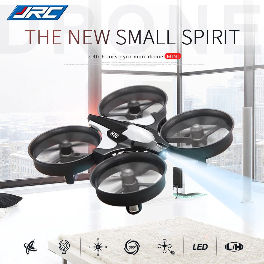 JJRC H36 Mini RC Drone 2.4GHz 4CH 6 Axis Gyro RC Quadcopter Headless Mode Speed Switch 3D Rollover Sparkling Beginner Level