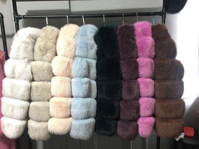 f6c312734d892 ZADORIN 2018 New Winter Coat Women Faux Fox Fur Coat Plus Size Women Stand  Collar Long ...