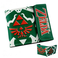 PU Leather Cartoon Purse Lovely Student Wallet The Legend of Zelda/Love Life/One Piece/FAIRY TAIL Billfold With Cards Holder Kids Wallets