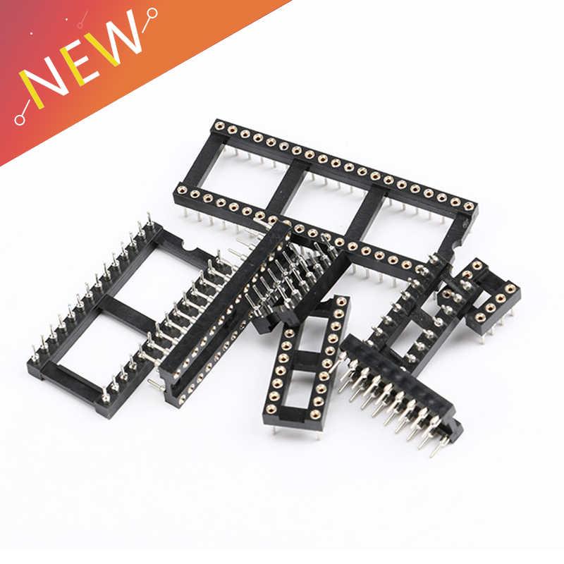 10 PCS IC ซ็อกเก็ต DIP6 DIP8 DIP14 DIP16 DIP18 DIP20 DIP28 DIP40 pins ตัวเชื่อมต่อ DIP Socket 6 8 14 16 18 20 24 28 40 pin