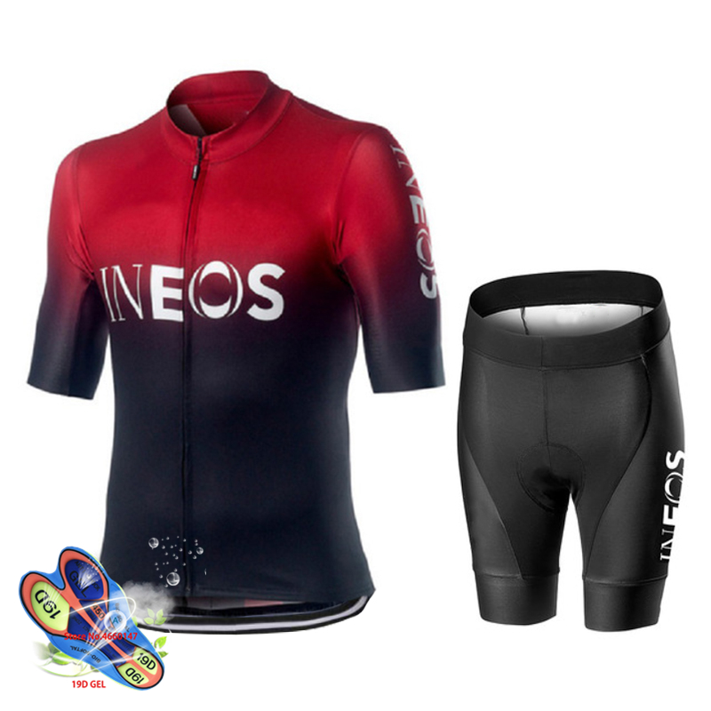 2019 Hot Sale Cycling Jersey Sets Long Sleeve Men Team Bike Shirt bib Pants suit
