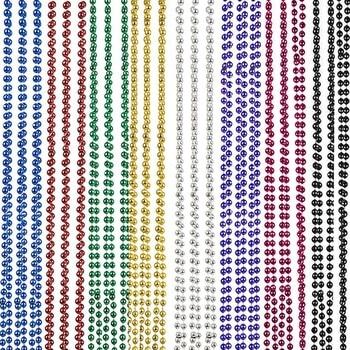 16/32 PCS Mardi Gras Beads Necklaces 8 Colors Party Supplies