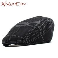 Fashion French Beret Hat Felt Elegante Dames Hoeden Winter Black Cotton Beret French Artist Vintage Striped