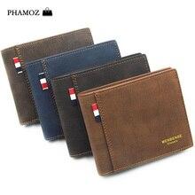 PHAMOZ Luxury Purse Thin Short Mens Mini Money Slim Cute leather Small
