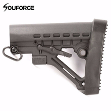 Hunting Accessories Rubber Butt Pad with Ergonomic Design for 5.56 Buttstock 6 Position Butt Stock Recoil