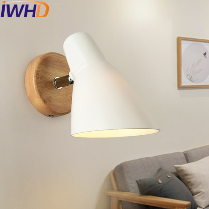 IWHD Modern Wall Light LED For Home Lighting Fixtures Creative Glass Wall Lamp Fashion Wood Sconce Bedroom Lamparas de pared modern simple led wall lamp indoor lighting bedroom wall sconce with globe glass shade arandela lamparas de pared