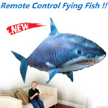 Remote flying fish, inflatable sharks can fly, wedding birthday party Christmas Halloween decoration, inflatable toy balloon
