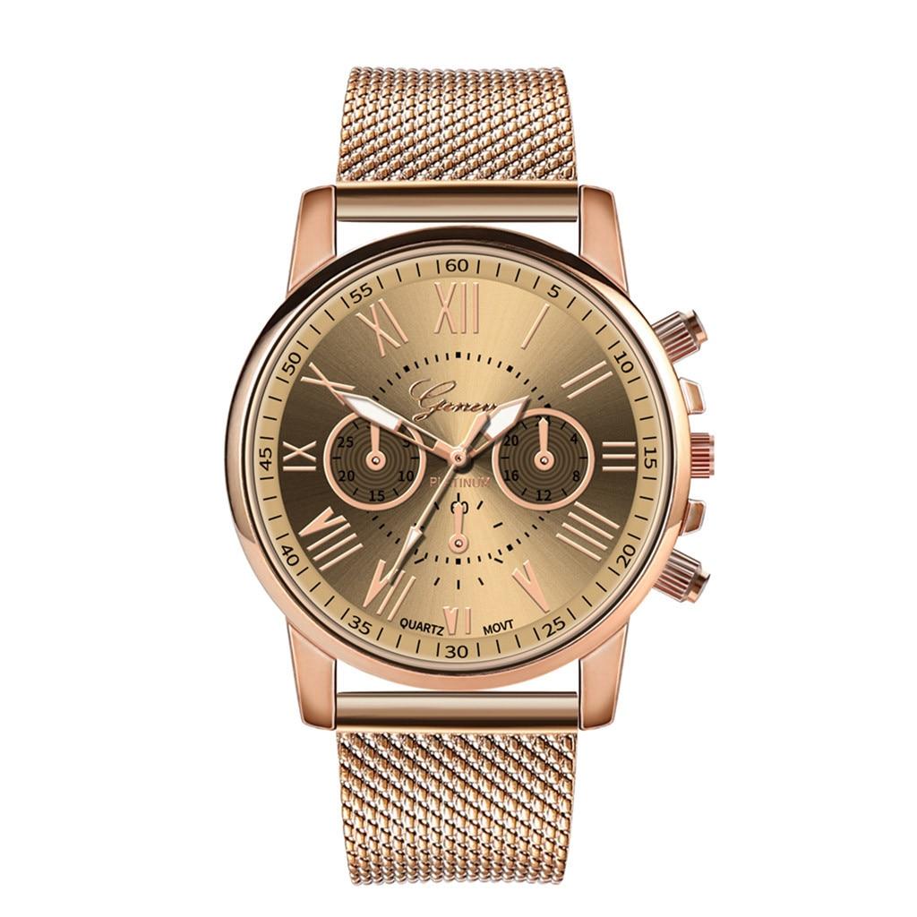 Роскошные Кварцевые часы для женщин и мужчин влюбленные пара Женские наручные часы Миланская нержавеющая сталь циферблат новое поступление - Цвет: A