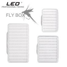 Leo Fly Hook Box 28055 Fly коробка рыболовных крючков с пеной водонепроницаемый прочный рыболовный снасти Прозрачный s m l Размер Pesca