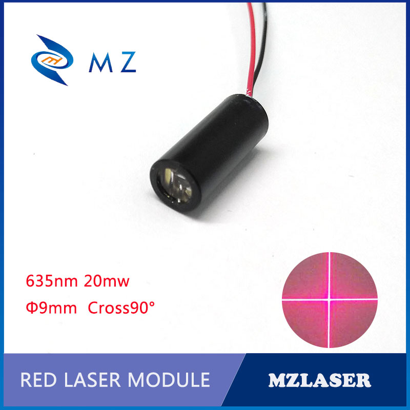9mm Red Cross Laser Module 635nm 20mw APC Constant Power Drive Industrial