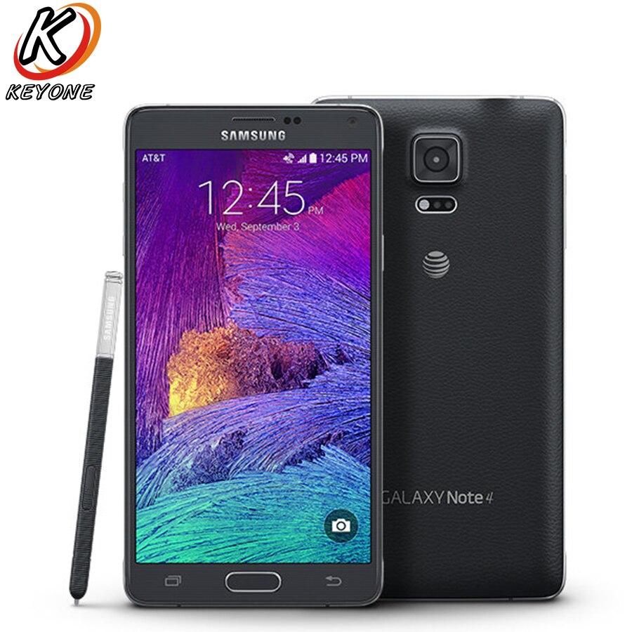 Original AT T Version Samsung Galaxy Note 4 Note4 N910A LTE font b Smartphone b font
