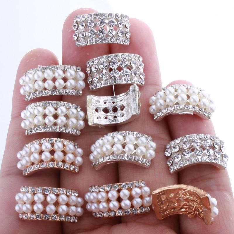 10ab207f46 10PCS 10*20MM Chic Arch Shape Crystal Rhinestone Buttons For Wedding ...
