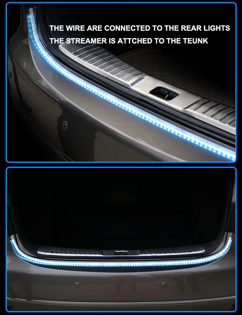 HTB1nSF6X0fvK1RjSspfq6zzXFXaP Niscarda Car Additional Stop Light Dynamic Streamer Floating LED Strip 12v Auto Trunk Tail Brake Running Turn Signal Lamp