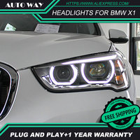 Car Styling HID LED headlight headlamps HID Hernia lamp accessory Headlights case for BMW X1 2017 2018 Car styling