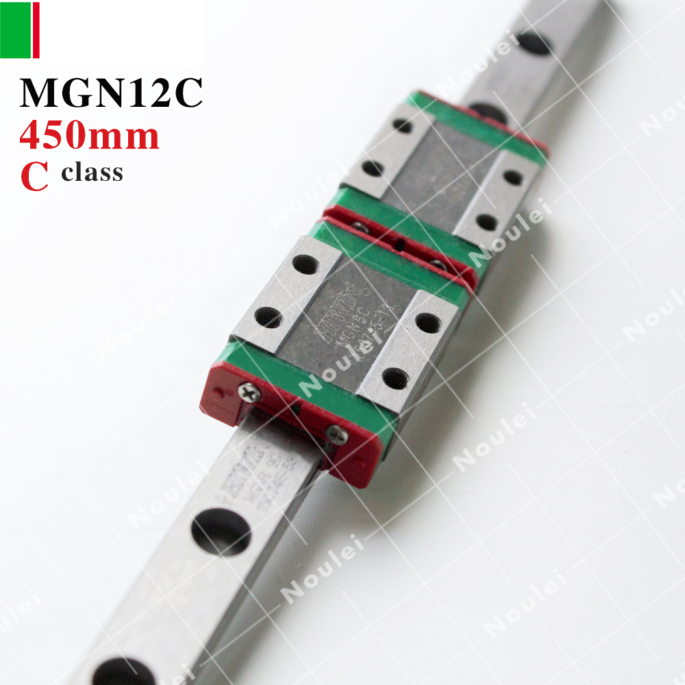 HIWIN MGN12C miniatura MGN12 carriage block with 450mm MGNR12 linear guide rail for 3d printer High efficiency CNC kit 12mm MGN купить
