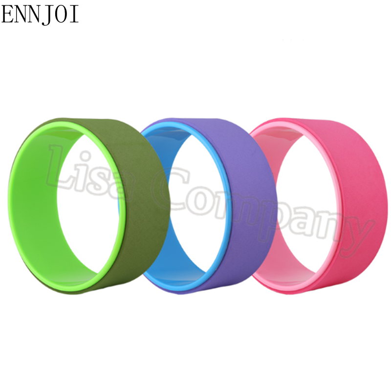 ENNJOI New Design 33x13cm Yoga Wheel Pilates Magic Circle Ring Body Building Shape Fitness Equipment Gym Workout Back Training circle