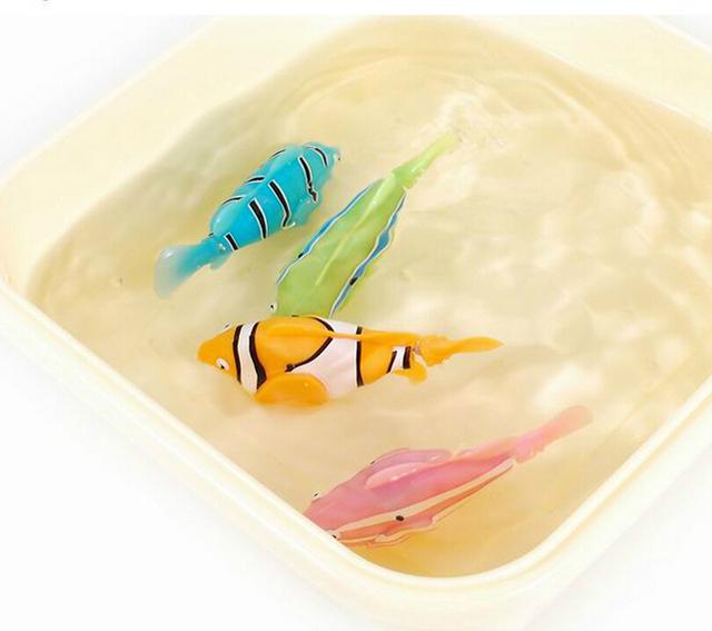 Big Sale Robofish Activated Battery Powered Robo Fish Toy Fish Robotic Fish Tank Aquarium Ornaments Decorations
