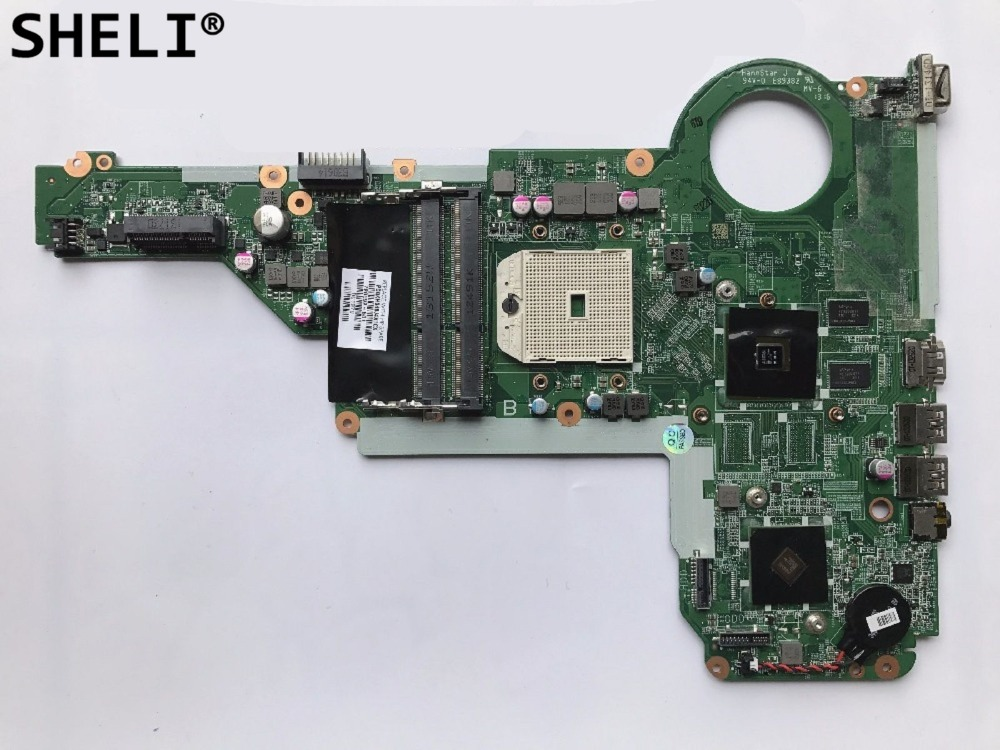 SHELI For HP 17-E 15-E Motherboard DA0R75MB6C0 720692-501 720692-001 744009 501 744009 001 for hp probook 640 g1 650 g1 motherboard socket 947 hm87 ddr3l tested working