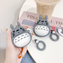 Silicone Case for AirPods Cute Bluetooth Earphone Apple Airpods 2 Cartoon Protective Cover Luxury Design 3D Totoro Ring