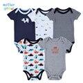 5 Peças Bodysuits Do Bebê Mamãe Me Ama Corpo de Impressão Conjuntos de Roupas de Bebê Da Menina Do Menino Roupas Produtos Do Bebê Recém-nascido Macacão