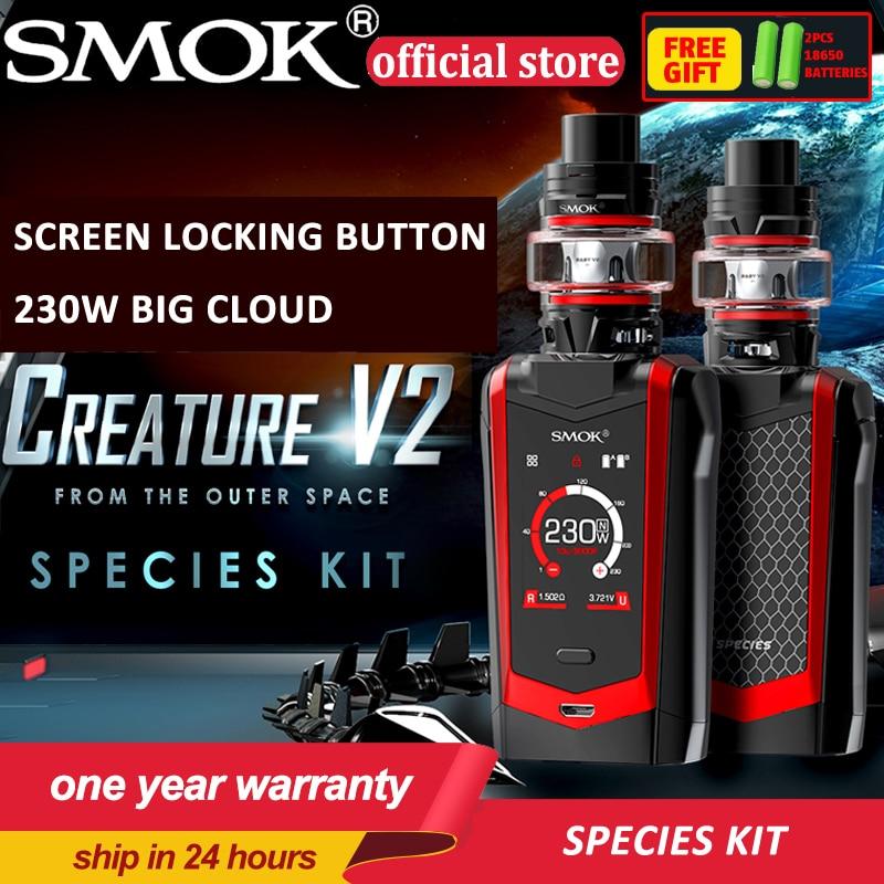 New Smok Species Kit 230W Species Mod 2ml 5ml TFV8 Baby V2 Tank With Baby V2