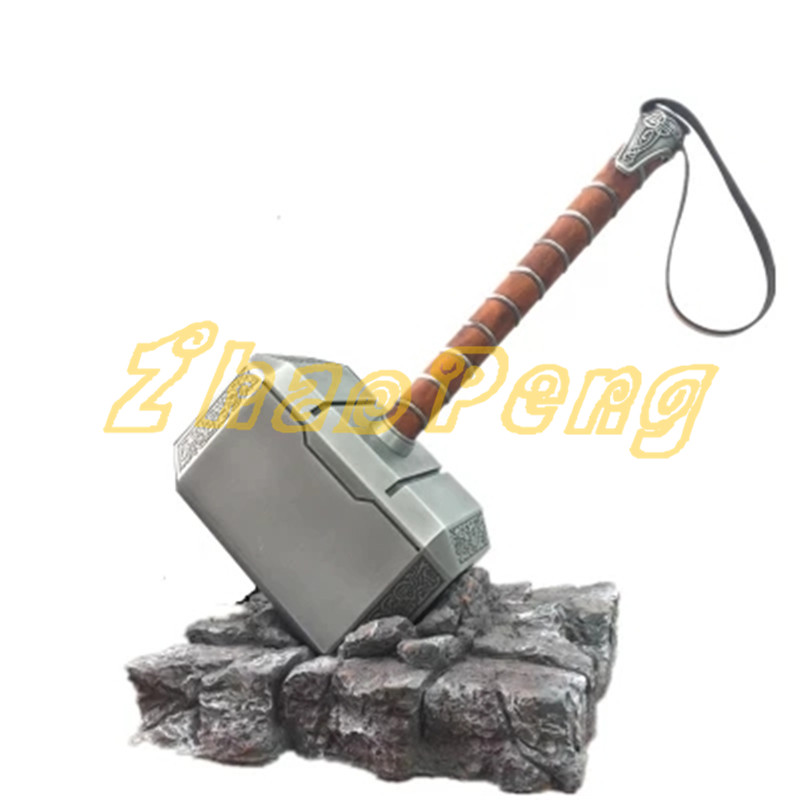Two style 44CM 1:1 scale Thor Metal and Resin Mjolnir Avengers action figure Thor KIT Mjolnir  Collection toy new hot 17cm avengers thor action figure toys collection christmas gift doll with box j h a c g