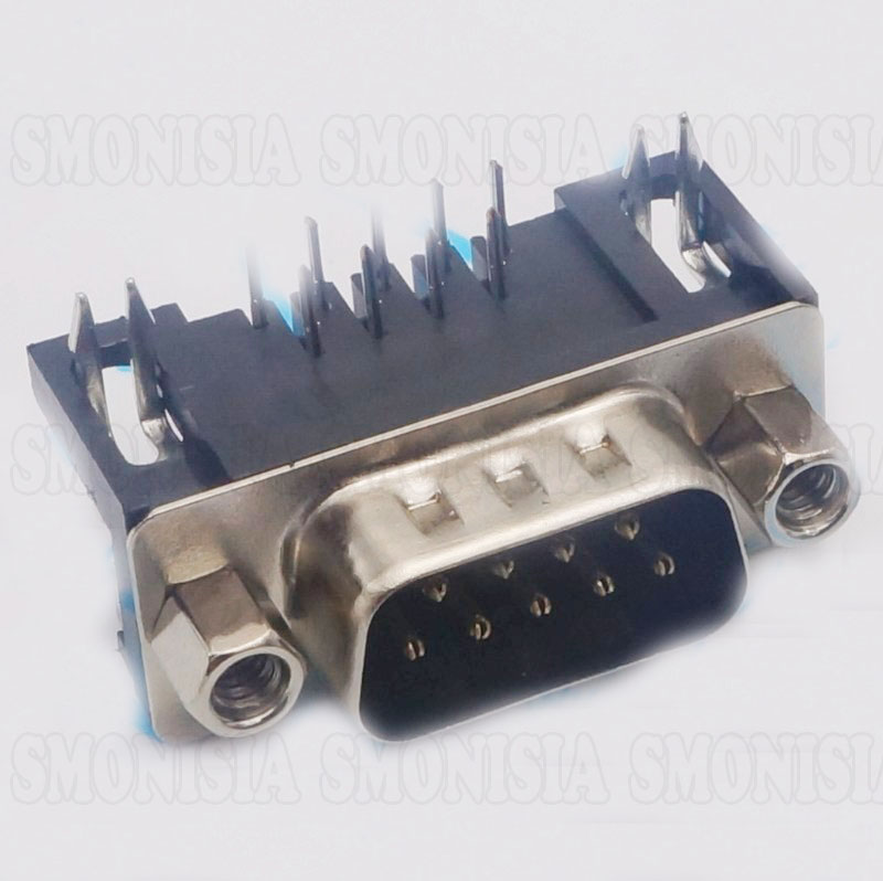 Male Plug RS232 Socket DB9 Hole Horizontal Serial Ports Jack plug