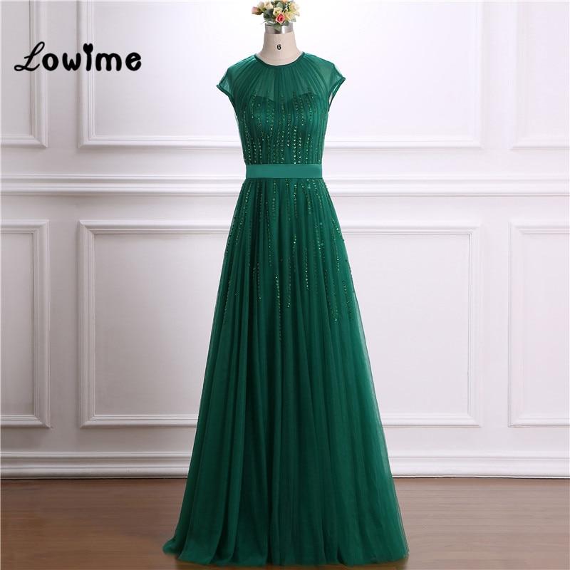 Green Evening font b Dress b font Elegant font b Sequin b font Illusion Neckline Wedding