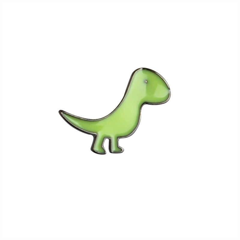 Desenhos animados animais dinossauros broche verde rosa azul amarelo esmalte pino botão moda mochila roupas lapela pino crachá para meninas meninos