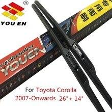 YOUEN Auto Car Windshield Wiper Blade For Toyota Corolla (2007-Onwards),26