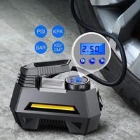 Portable Air Compressor Tire Inflator Car Tire Pump With Digital Pressure Gauge (150 Psi 12V Dc), Bright Emergency Flashligh