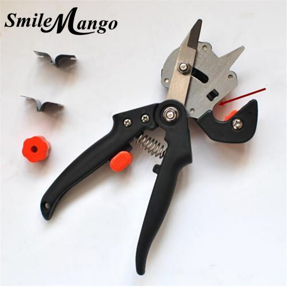 SmileMang Garden Fruit Tree Pro Pruning Shears Scissor Grafting cutting Tool + 2 Blade garden tools set pruner Tree Cutting Tool professional fruit tree grafting tool garden shears vaccination secateurs pruning cutting shears farming equipment garden tools