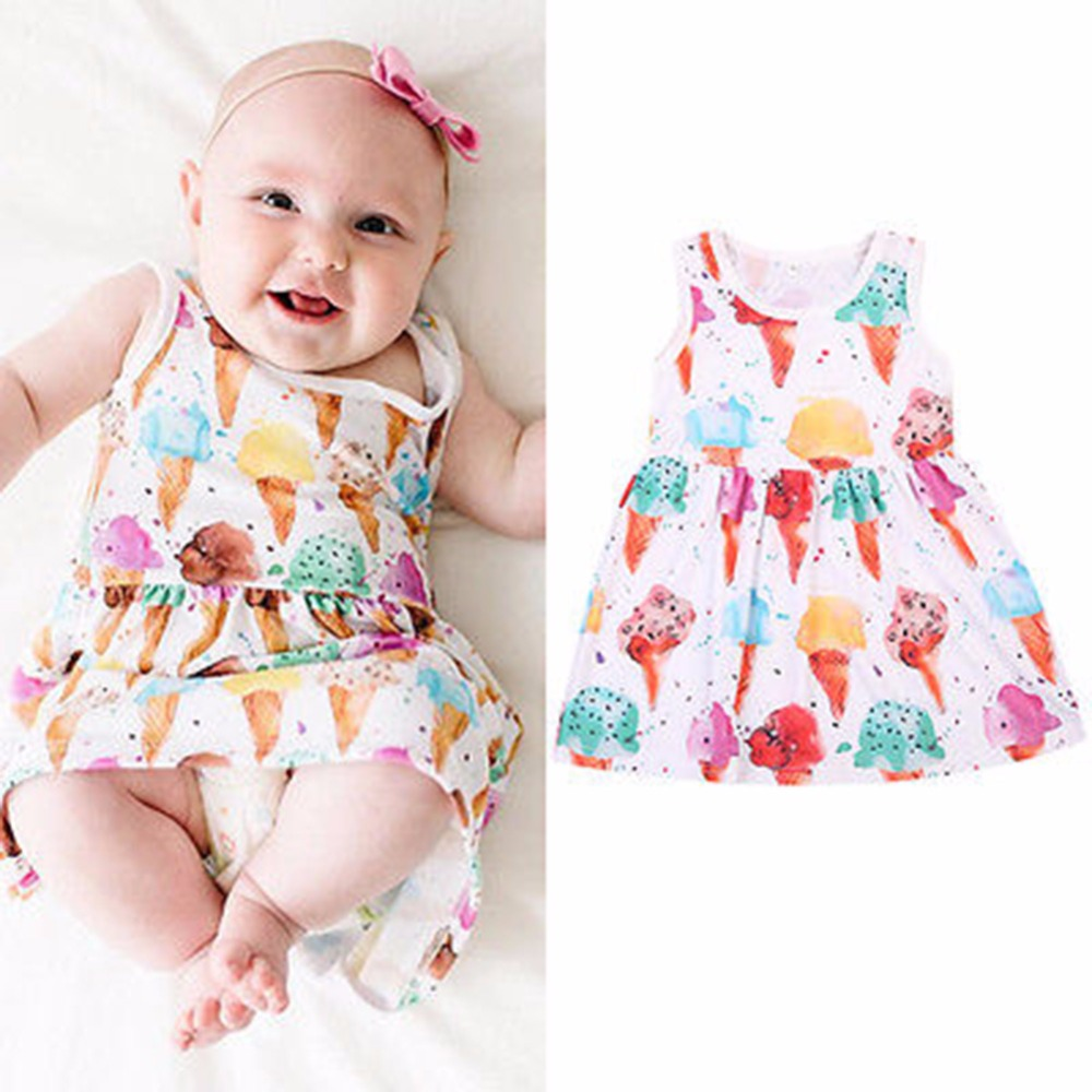 fashion baby dress ice cream print pattern sweet cute lolita style