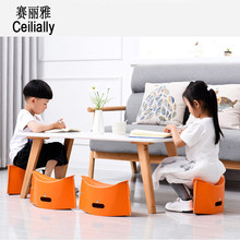 New Arrival Orange Plastic Folding Thicken Step Portable Child Stools Tourist Picnic And Fishing Stool(China)