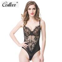 COLLEER 2017 Women Bra Set Sexy Siamesed Bra Brief Underwear Lace Push Up Women Bra Set