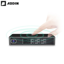 AODIN M9 1 + 32G Pico mini Proyector hd Inteligente Multi-touch Proyectores DLP Portátil Proyector de Bolsillo LED WIFI home theater data show