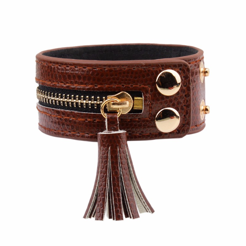 Браслеты и браслеты janeyacy кожаные на молнии модные женские