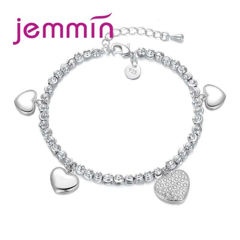 Лидер продаж, модный браслет с подвеской в виде серебряные бусины 925 пробы для детей, красивые украшения для девочек